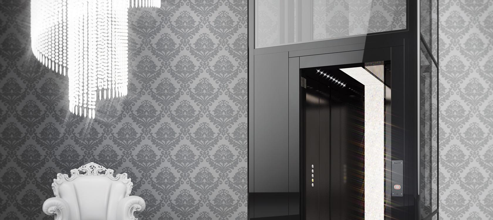 Domuslift with swarovski piccoli ascensori per interni - Piccoli montacarichi per interni ...